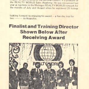1977 International, first place winter listing presentation